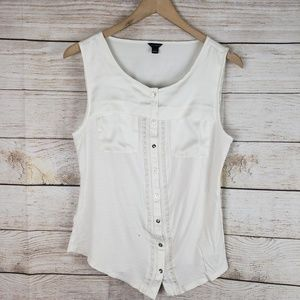 Ann Taylor | White Pocket Tank